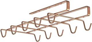 Metaltex 3636280000 Porte 10 Tasses-MYMUG, Métal, cuivré, 28x14x6 cm