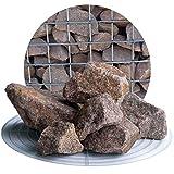 Schicker Mineral Granit Gabionensteine rot 25 kg, Bruchsteine in verschiedenen Körnnungen, Steine als Füllmaterial für Ihre Gabionen, zur Gartendeko (32-60 mm)