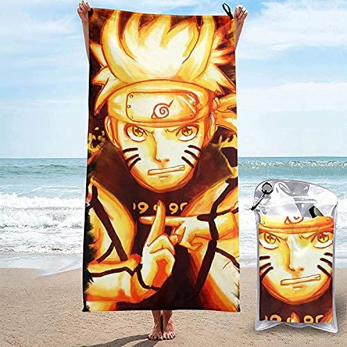 Amacigana 3D Naruto Toalla de playa, Anime Multiusos, toalla de piscina, impresión 3D, toalla de baño, baño de sol, spa, cómoda para hombres y mujeres adultos (Naruto #05,75 x 150 cm)