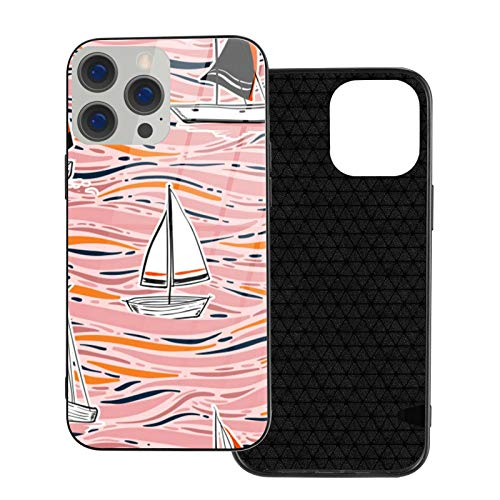 Fashiony-handdrawing-colorful-wind-surf-seamless-patternn-vector-ocean funda compatible con IP12Pro Max-6.7 Slim Soft TPU a prueba de golpes antiarañazos funda para teléfono móvil, transparente