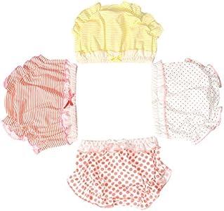 Losorn ZPY - Ropa interior para bebé, con volantes, 3 unidades multicolor 90 cm
