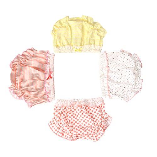 LOSORN ZPY Baby Mädchen Unique Unterhosen Mit Rüschen Günstig 3Pcs Kinder Untewäsche, Mehrfarbig, Gr.- 80