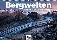 Bergwelten - Die spektakulaersten Berglandschaften. (Wandkalender 2022 DIN A2 quer): Entdecken Sie zwoelf unfassbare Berglandschaften. (Monatskalender, 14 Seiten )
