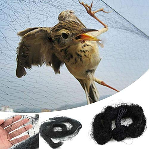 XiaoOu Rete per Uccelli 9 Taglie Rete Anti-Uccello Cattura-reti Stagno Rete da Pesca Trappole Colture Albero da frutto Verdure Giardino Floreale Mesh Proteggi i parassiti, 16X3M