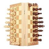 CHUJIAN 2 Tamaño portátil Plegable magnético Tablero de ajedrez Tablero de ajedrez de Madera Set de Juguetes Internacional for la Educación Entretenimiento Viajes Juego (Color : 24cm)