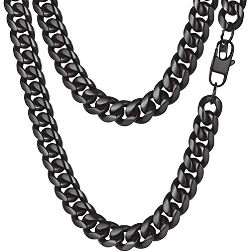 PROSTEEL Men Necklace Collares Hombre Gothic Jewelry Goth Choker Statement Black Necklace Women Metal Choker Punk Mens Chain
