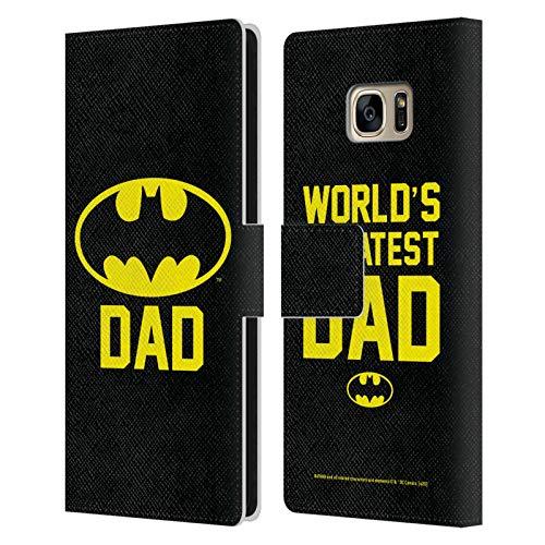 Head Case Designs Offizielle Batman DC Comics Batdad Logos Leder Brieftaschen Huelle kompatibel mit Samsung Galaxy S7 Edge