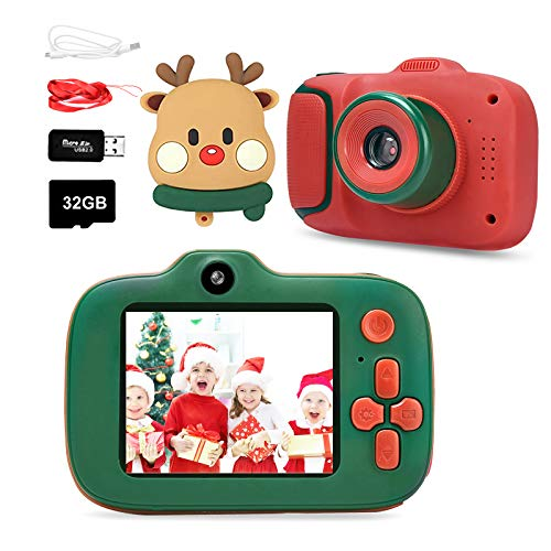 Ylife Digital Camera for Kids, 1080P FHD Kid Digital Video Camera Children Camera with 32GB SD Card for 3-10 Years Boys Girls