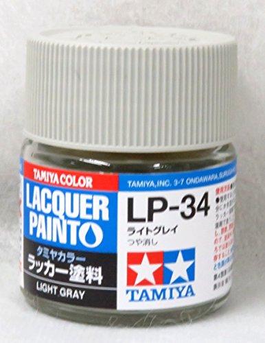 タミヤカラー ラッカー塗料 LP-34 ライトグレイ つや消し