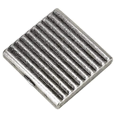 CaLeQi High-Grade Gebürstete Kupfer Zigarettenetui hält 20 Zigaretten. (Mit Marken-Geschenk-Box) (Rille)
