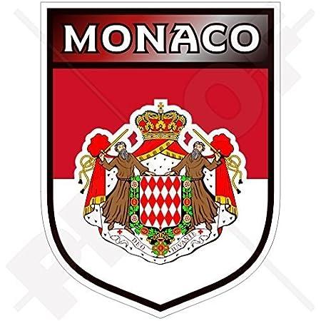 Monaco Fürstentum Schild 100mm Auto Motorrad Aufkleber Vinyl Sticker Garten