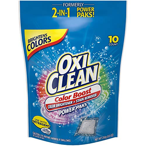OxiClean Color Boost Color Brightener plus Stain Remover Power Paks, 10 Count