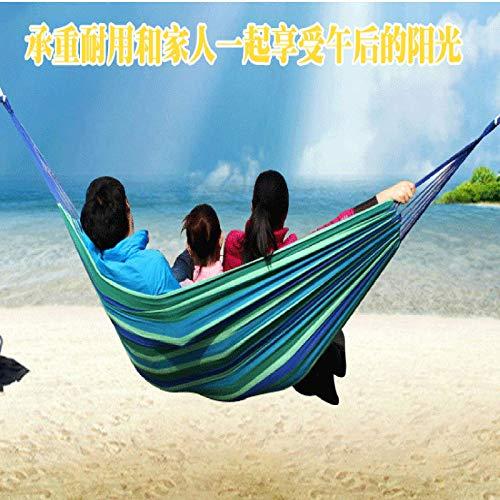 CGZZ Hamaca para Acampar De para Jardín, Individual o Doble Acampar Exteriores para Patio Camping Senderismo Mochilero Playa 200cm*150cm,Blue