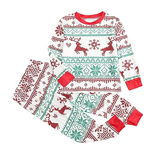 Maglione di Natale unisex con LED stampato 3D, maglione di Natale Ugly Christmas Sweater Jumper caldo set di Babbo Natale stampato Home Wear Pigiama due pezzi (set di famiglia)