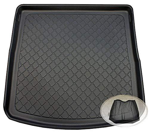 ZentimeX Z3121986 Gummierte Kofferraumwanne fahrzeugspezifisch + Klett-Organizer (Laderaumwanne, Kofferraummatte)