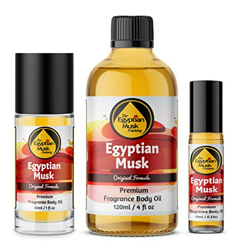 Egyptian Musk Oil, Choose from Roll On to 0.33oz - 4oz Glass Bottle, by...