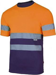 Velilla Camiseta Manga Corta Bicolor de Alta Visibilidad y Cintas Reflectantes. EN ISO 13688:2013 / EN ISO 20471:2013 + A1...