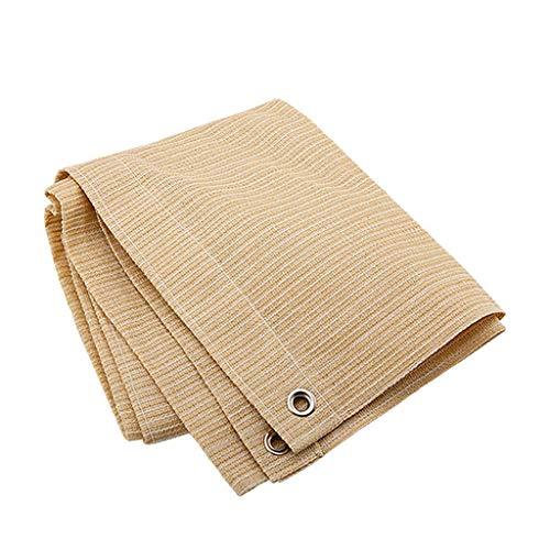 GDMING-Sichtschutznetz Sonnensegel Sunblock Shade Tuch Mit Ösen, Pflanzenschutz Atmungsaktiv Faltbar Reißfestigkeit 16 Größen (Farbe : Beige, größe : 3x3m)