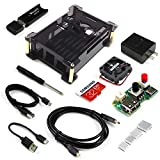 Freenove Starter Kit for Raspberry Pi 4 B, Acrylic Protective Case, Adjustable Cooling Fan, 3A Power Supply with Switch, 32 GB SD Card