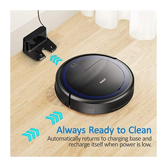 """Robit V7S PRO Robot Vacuum Cleaner, Upgraded 2000Pa Strong Suction, Ultra-Thin, Drop Sensor, Quiet, Self- Charging… 5 🐱 Enhanced 2000Pa Strong Suction: With the most advanced powerful motor, Robit V7S Pro Robot Vacuum has a 2000Pa intense suction, easily picking up dust and hair even from hard floor and carpet.3 Stage Cleaning System provided meets any various demands, you can choose whichever you like. 🐶 Slim Body & Super Quiet: Applying unique High quality Nidec brushless motor, this robot vacuum cleaner is endowed with mini noise while cleaning, so you can enjoy yourself with no disturbance. Only 3.1"""" height makes it easy to freely glide under the bed, the sofa or the table , and all the hidden dust can be swept away. 🐹 Schedule a Cleaning : Delivered by a Time Reservation, this robot vacuum pet can work perfectly as scheduled and multiple cleaning modes generates a customized cleaning routine."""