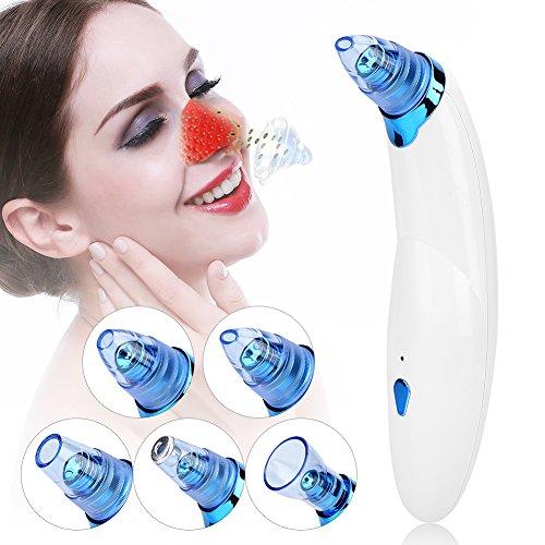 Instrument de Microdermabrasion électrique de massage de vide, Dispositif de beauté de Extracteur de tête noire de fines herbes d'Acne anti-cellulite(Bleu)