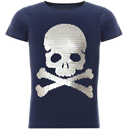 BEZLIT Jungen Wende-Pailletten T-Shirt Tollem Motiv 22026 Blau Größe 116