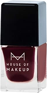 House of Makeup Matte Nail Polish - Maroon, Long Lasting Quick Dry Nail Paint with Velvet Smooth Finish - Hibiscus Tea Colour (12ml)