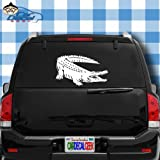 Car Decal Geek Alligator Crocodile Vinyl Decal Sticker Bumper Cling for Car Truck Window Laptop MacBook Wall Cooler Tumbler | Die-Cut/No Background | Multi Sizes/Colors Red, 14'