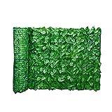 Artificiali Screening Edera Foglia Hedge Pannelli in rotolo sulla recinto del giardino Giardino recinto muro di privacy Screening Hedge 0,5m x 3m, Verde