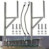 goodbabycare Heavy Duty Side Mount Trailer Ladder Rack for Enclosed Cargo Trailer