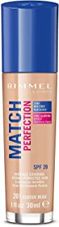 Best Rimmel London Match Perfection Foundation Spf20 201 Classic Beige 30ml Review