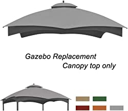 Eurmax Replacement Canopy Top for Lowe's Allen Roth 10X12 Gazebo #GF-12S004B-1(Gray)