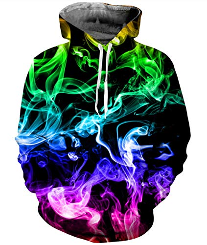 Idgreatim Herren Kapuzenpullovers Hoodie Lässige Kapuzen Leichte Pullover Swearshirt Cool Outwear Mantel