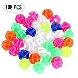 108 Pz Spoke Decoration Bead, Ruota della Bicicletta Clip di Perline in Plastica Colorata, Accessori per la Decorazione della Bici per i Bambini