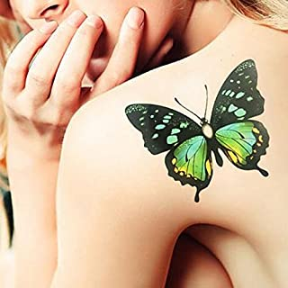TAFLY A Big Butterfly Temporary Tattoos 2 Sheets