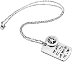 Captain America Till the End of the Line Dog Tag Necklace