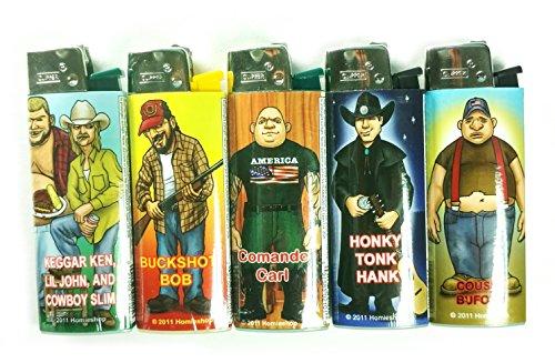 Trailer Park Homies Clipper Lighters 5 Pack