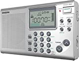 Sangean ATS-405 FM-Stereo/AM/Short Wave World Band Receiver, Silver