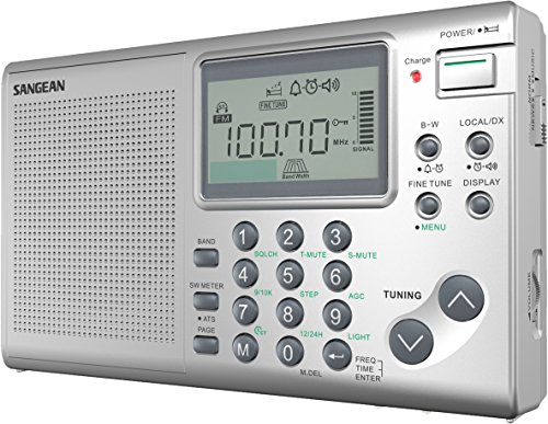 Sangean ATS-405 FM-Stereo AM Short Wave World Band Receiver, Silver