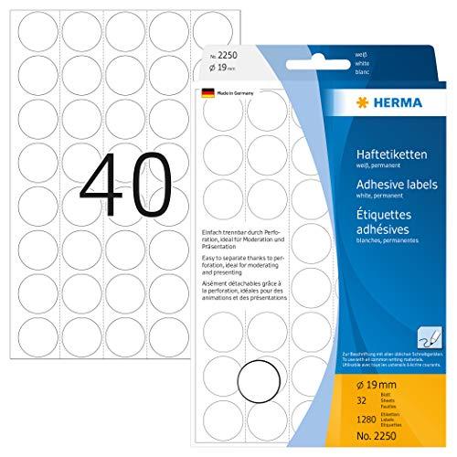 Etiketten Herma 2250 19mm weiß
