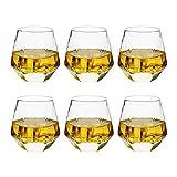 Whiskey Glasses ,Set of 6 Whiskey Tumbler...