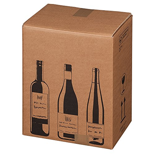 Flaschenversandkartons Faltkarton Weinversandkarton Flaschenkarton Weinkarton, Menge:5 Stück, Flaschen Anzahl:6 Flaschen