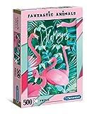 Clementoni- Puzzle 500 Piezas Flamingo, Multicolor (35067.4)