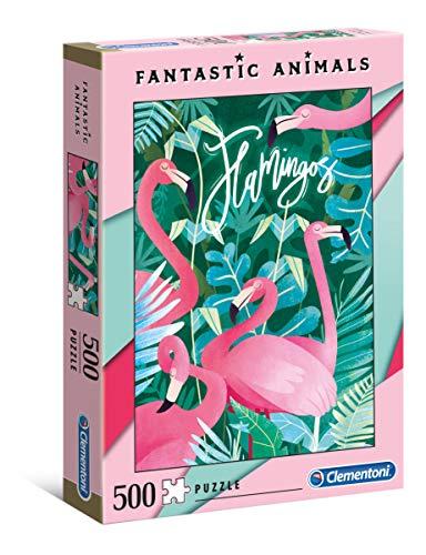 Clementoni 35067 Clementoni-35067-Fantastic Animals-Flamingos-500 delen, meerdere kleuren