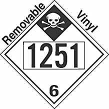 GC Labels-P335c1251, Inhalation Hazard Class 6.1 UN1251 Removable Vinyl DOT Placard, Package of 50 Placards