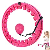 Smart Weighted Hula Hoop for Exercise and Fitness,24 Knots Detachable Hula Ring Hoops 2 in 1 Abdomen Weight Loss Massage,Hoola Hoops Never Falling for Adult Youth Children Beginners Kids
