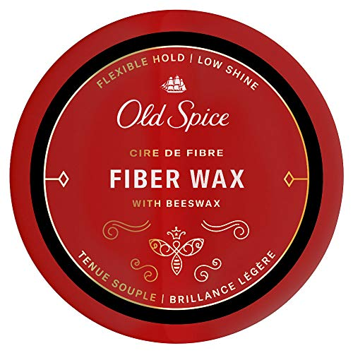 Old Spice Hair Styling Fiber Wax for Men, Flexible Hold/Low Shine, 2.22 Oz NEW Formula