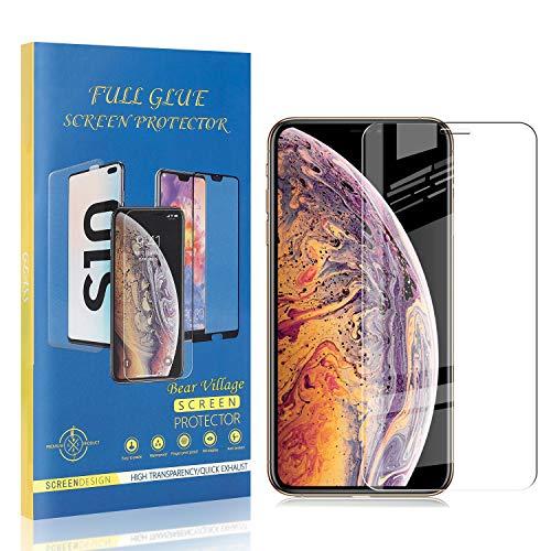Bear Village® Verre Trempé pour iPhone 11 Pro Max 6.5, Sans Bulles Protection en Verre Trempé Écran pour iPhone 11 Pro Max 6.5, Ultra Résistant, 99% Transparent, 2 Pièces