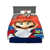 Franco Kids Bedding Super Soft Micro Raschel Blanket, Twin/Full Size 62' x 90', Mario