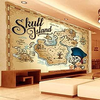 Mbwlkj European Style Pirate Treasure Map 3D Photo Wallpaper Restaurant Living Room Tv Sofa Backdrop Wall Mural Custom Wallpaper-200cmx140cm